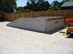 concrete loading ramp